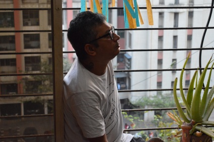 Rishu @home by his balcony